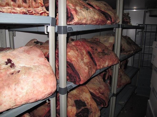 Fig. 4. Costillas de Cabo Grim 36 meses de carne de vacuno alimentado con pasto.